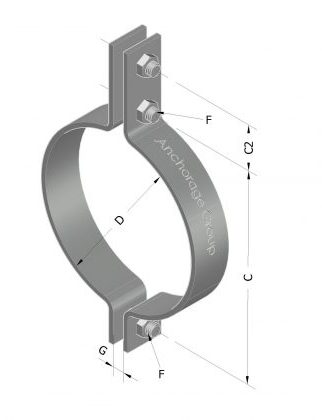 medium duty 3 bolt pipe clamp