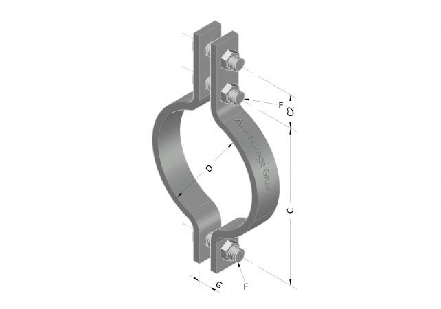 3-bolt pipe clamp high temp