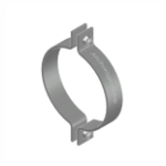 Galvanised 2 bolt pipe clamp
