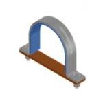 Insulated saddle clamp