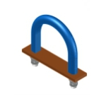 Insulated u bolt pipe clamp