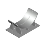 Heavy duty pipe cradle