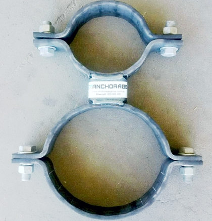 piggyback double pipe clamp